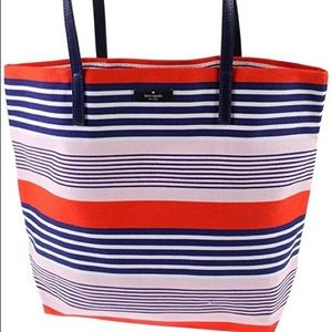 Kate Spade Striped Canvas Tote, Large